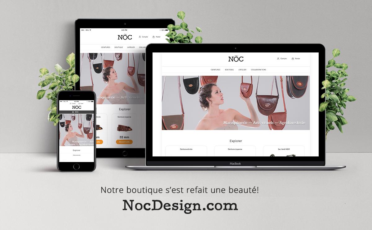 Une boutique en ligne actualisée